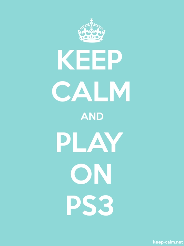 KEEP CALM AND PLAY ON PS3 - white/lightblue - Default (600x800)