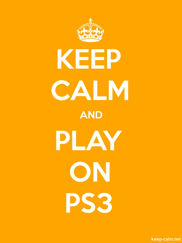 KEEP CALM AND PLAY ON PS3 - white/orange - Default (600x800)