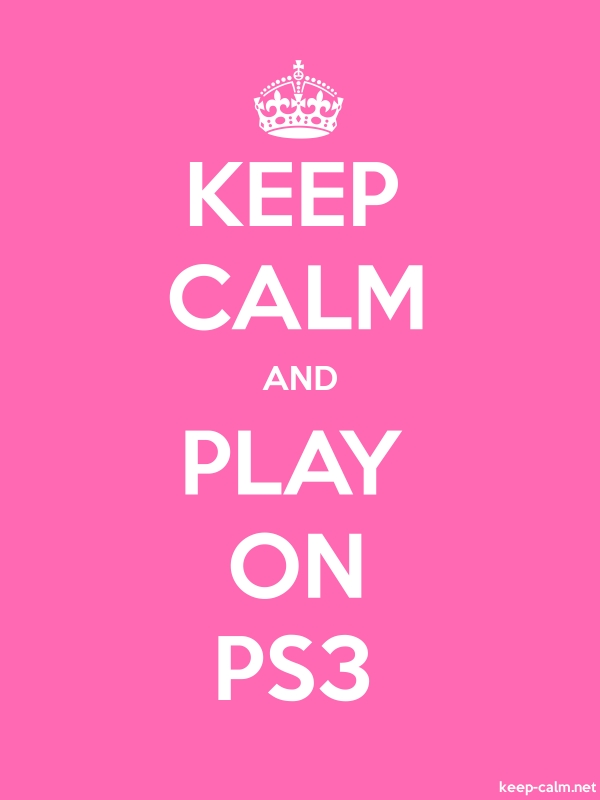 KEEP CALM AND PLAY ON PS3 - white/pink - Default (600x800)