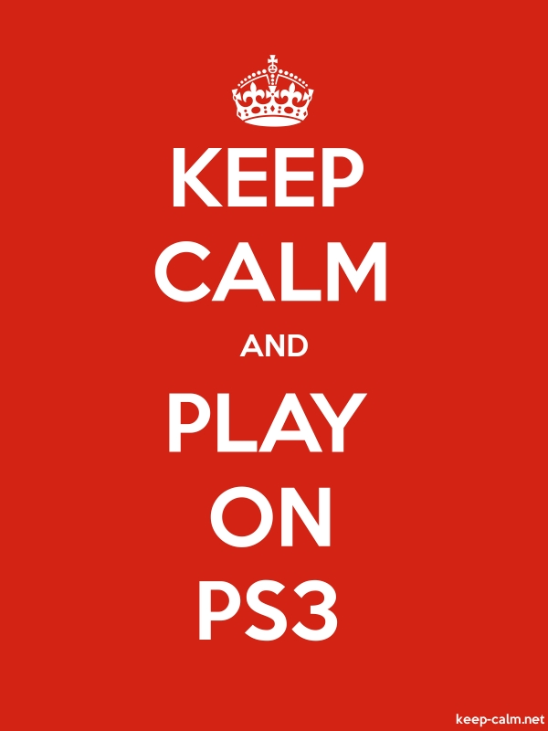 KEEP CALM AND PLAY ON PS3 - white/red - Default (600x800)