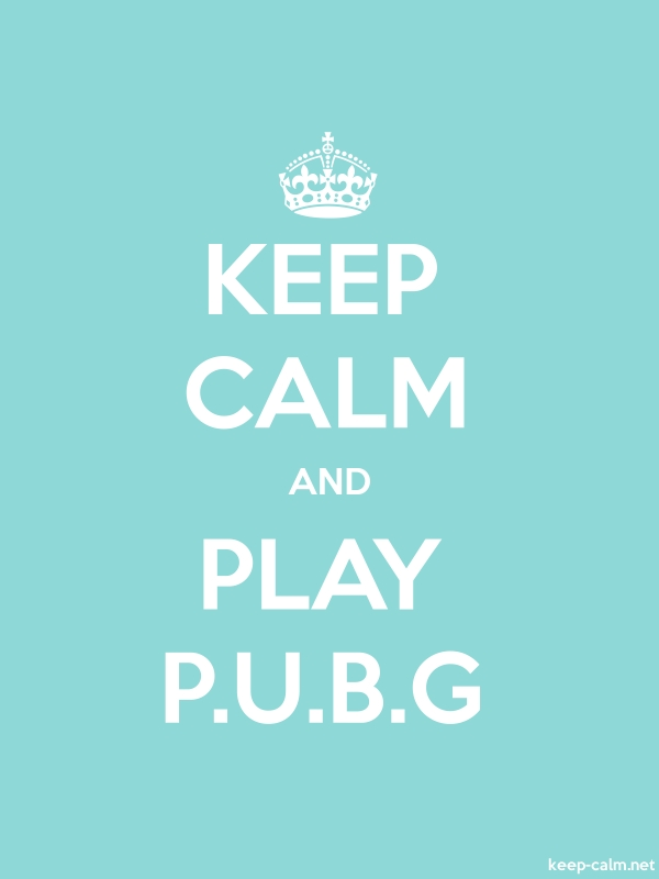 KEEP CALM AND PLAY P.U.B.G - white/lightblue - Default (600x800)