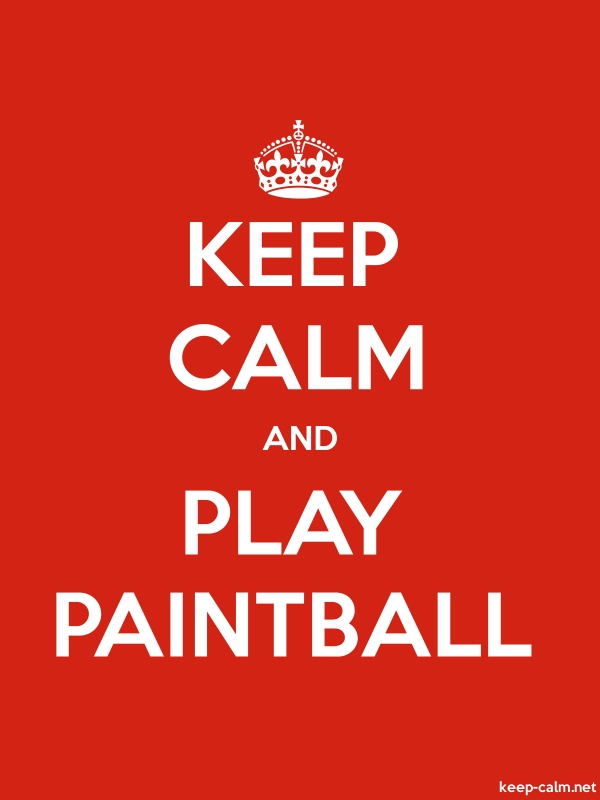 KEEP CALM AND PLAY PAINTBALL - white/red - Default (600x800)