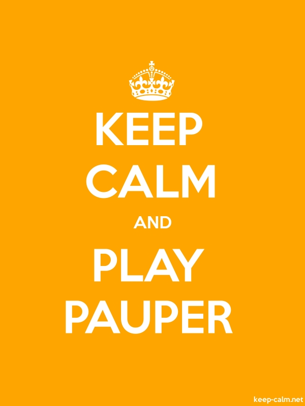 KEEP CALM AND PLAY PAUPER - white/orange - Default (600x800)
