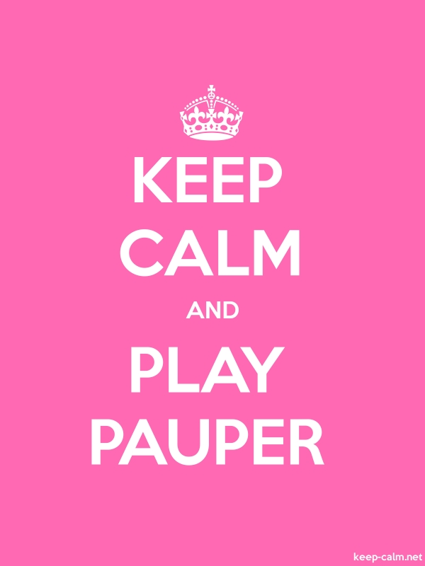 KEEP CALM AND PLAY PAUPER - white/pink - Default (600x800)