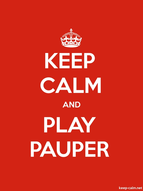 KEEP CALM AND PLAY PAUPER - white/red - Default (600x800)