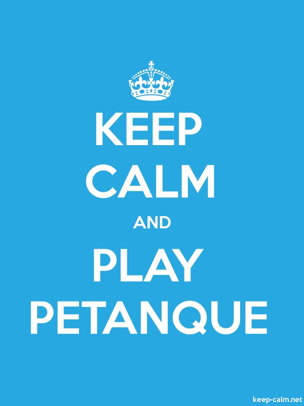 KEEP CALM AND PLAY PETANQUE - white/blue - Default (600x800)