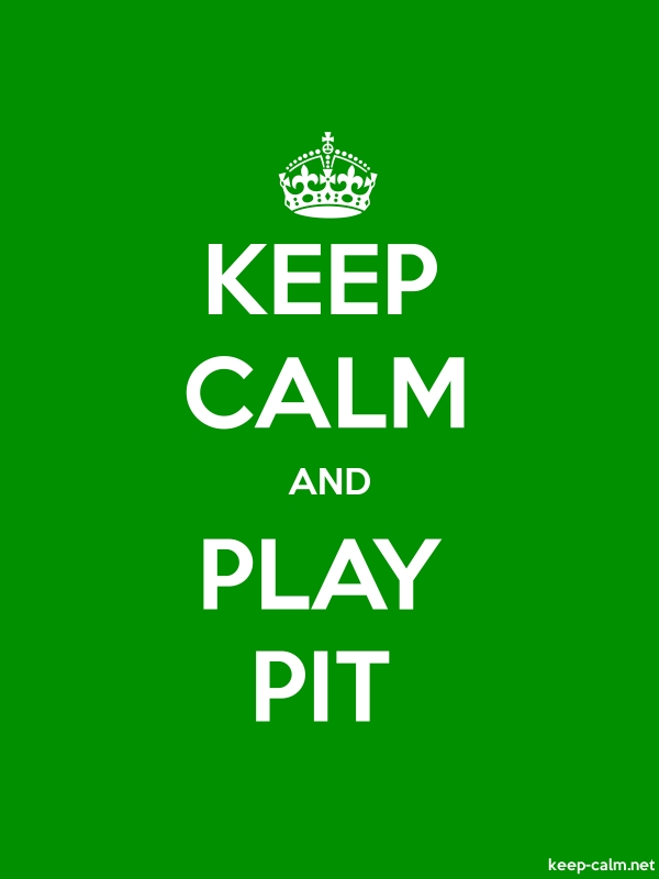 KEEP CALM AND PLAY PIT - white/green - Default (600x800)