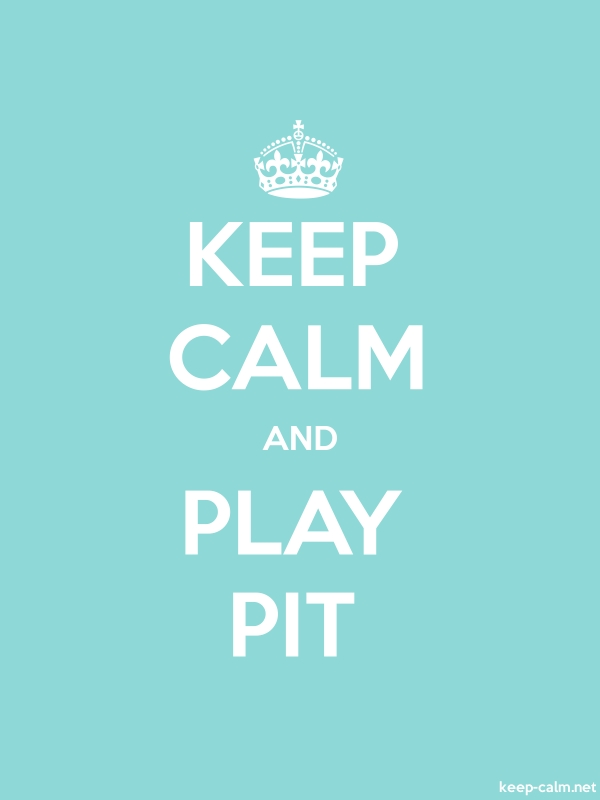 KEEP CALM AND PLAY PIT - white/lightblue - Default (600x800)