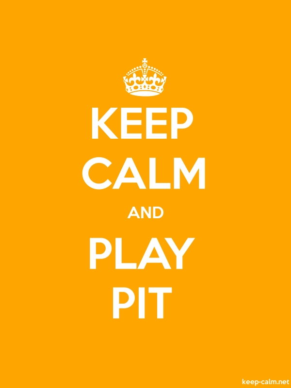 KEEP CALM AND PLAY PIT - white/orange - Default (600x800)