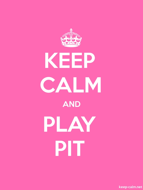 KEEP CALM AND PLAY PIT - white/pink - Default (600x800)