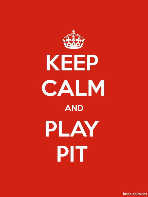 KEEP CALM AND PLAY PIT - white/red - Default (600x800)
