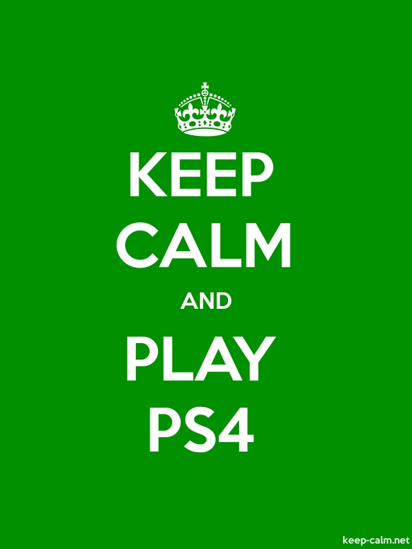KEEP CALM AND PLAY PS4 - white/green - Default (600x800)