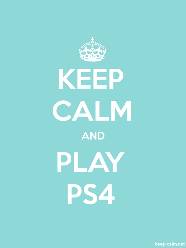 KEEP CALM AND PLAY PS4 - white/lightblue - Default (600x800)