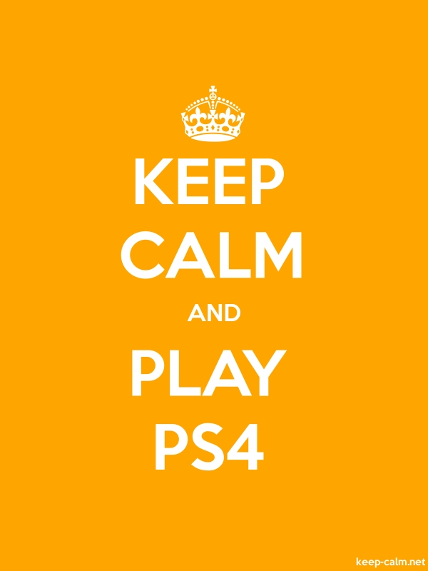KEEP CALM AND PLAY PS4 - white/orange - Default (600x800)