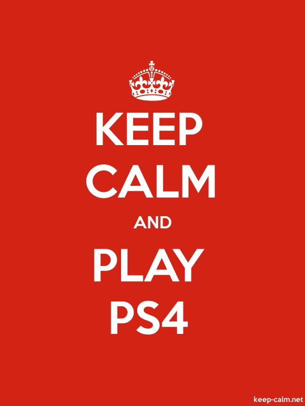 KEEP CALM AND PLAY PS4 - white/red - Default (600x800)