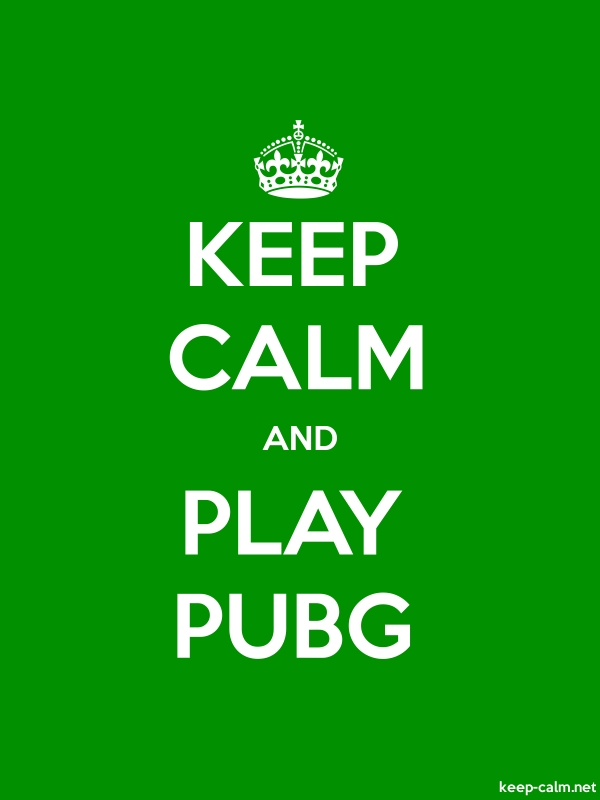 KEEP CALM AND PLAY PUBG - white/green - Default (600x800)