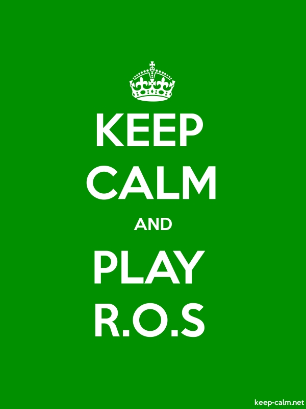 KEEP CALM AND PLAY R.O.S - white/green - Default (600x800)