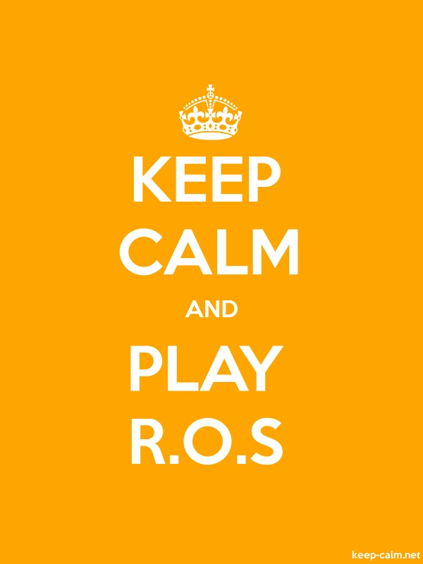 KEEP CALM AND PLAY R.O.S - white/orange - Default (600x800)