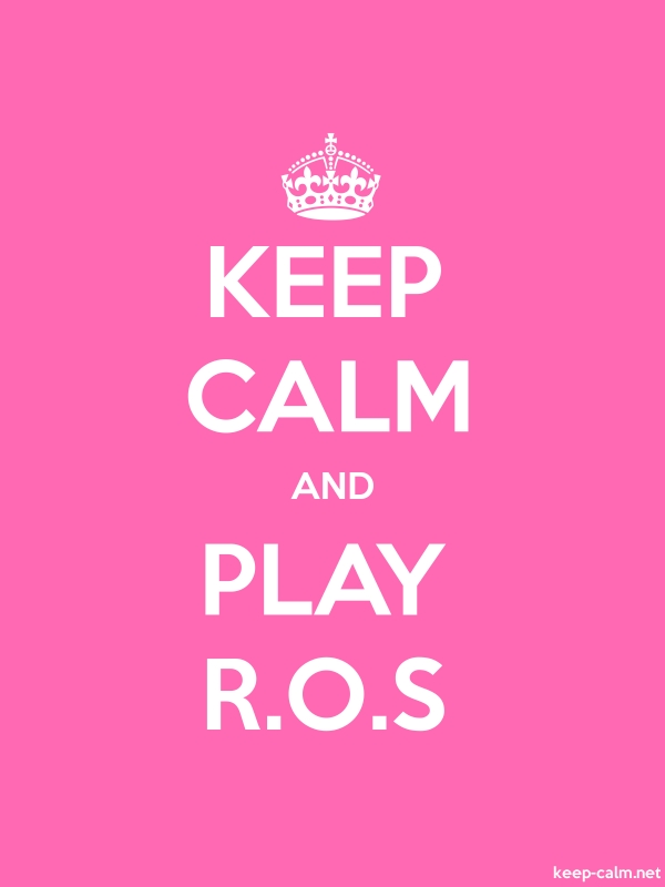 KEEP CALM AND PLAY R.O.S - white/pink - Default (600x800)