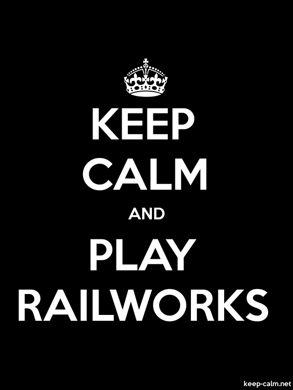 KEEP CALM AND PLAY RAILWORKS - white/black - Default (600x800)