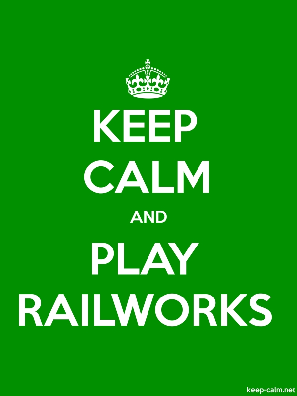KEEP CALM AND PLAY RAILWORKS - white/green - Default (600x800)