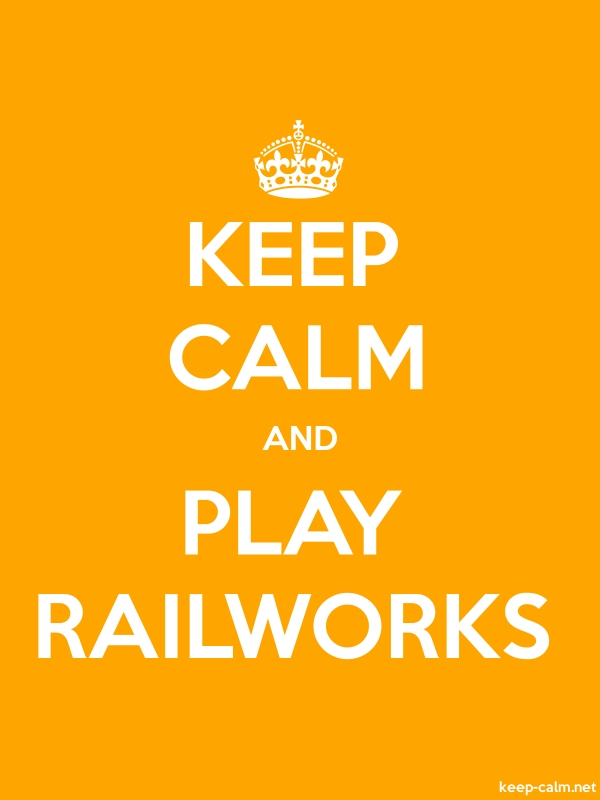 KEEP CALM AND PLAY RAILWORKS - white/orange - Default (600x800)