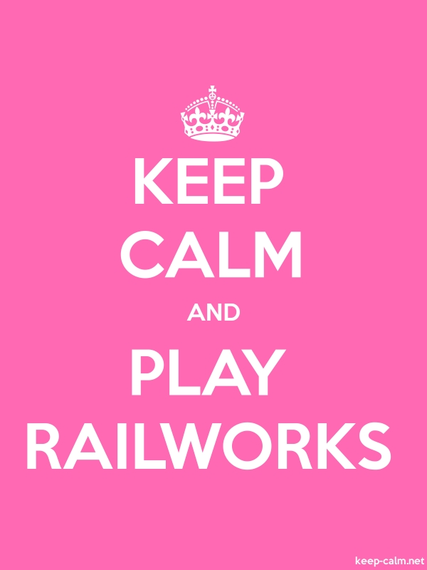KEEP CALM AND PLAY RAILWORKS - white/pink - Default (600x800)