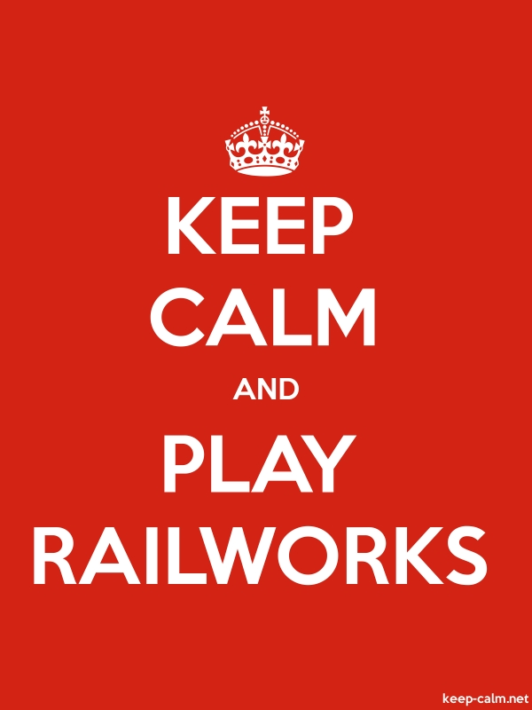 KEEP CALM AND PLAY RAILWORKS - white/red - Default (600x800)