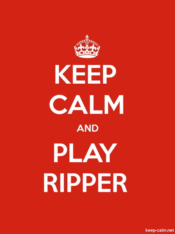 KEEP CALM AND PLAY RIPPER - white/red - Default (600x800)