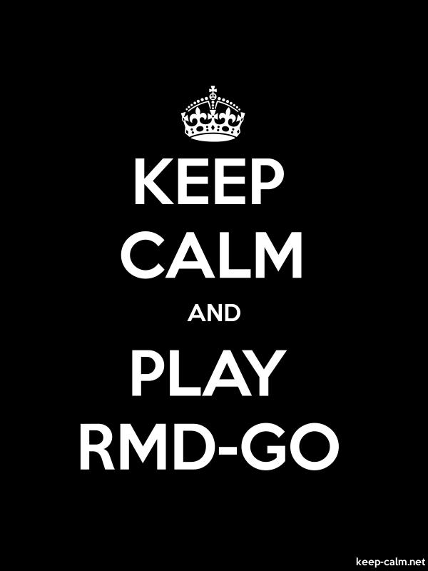KEEP CALM AND PLAY RMD-GO - white/black - Default (600x800)