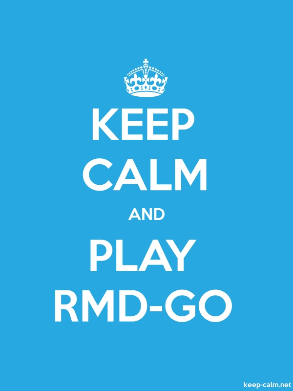 KEEP CALM AND PLAY RMD-GO - white/blue - Default (600x800)
