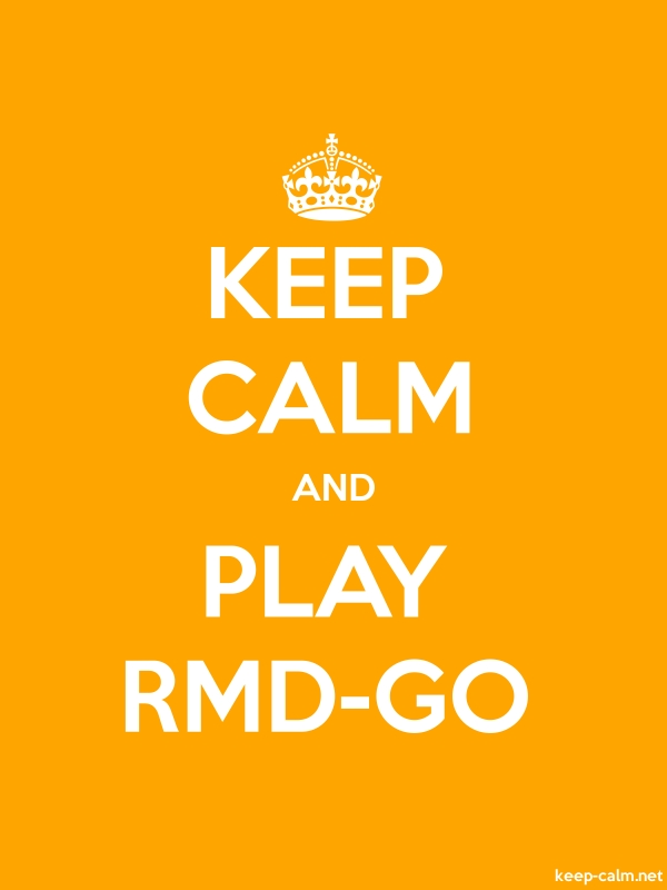 KEEP CALM AND PLAY RMD-GO - white/orange - Default (600x800)