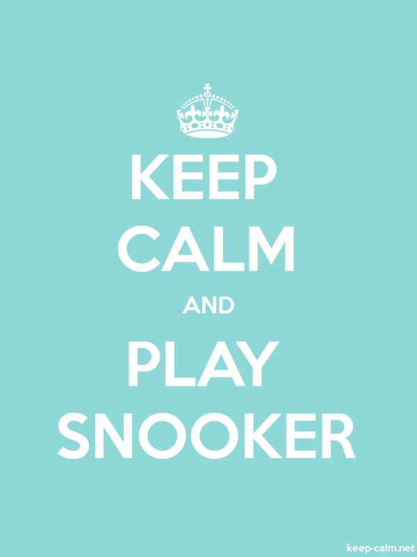KEEP CALM AND PLAY SNOOKER - white/lightblue - Default (600x800)