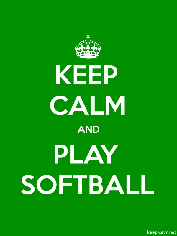 KEEP CALM AND PLAY SOFTBALL - white/green - Default (600x800)