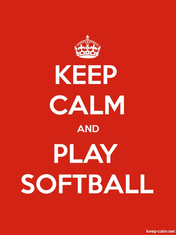KEEP CALM AND PLAY SOFTBALL - white/red - Default (600x800)