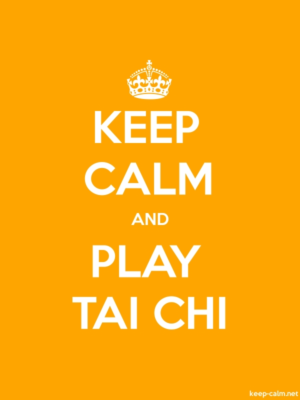 KEEP CALM AND PLAY TAI CHI - white/orange - Default (600x800)