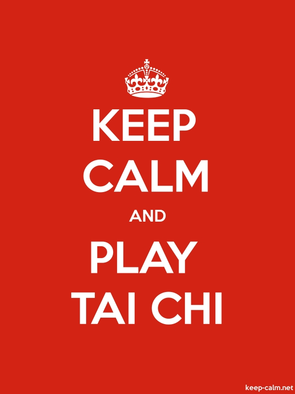 KEEP CALM AND PLAY TAI CHI - white/red - Default (600x800)