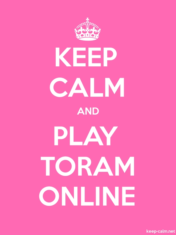 KEEP CALM AND PLAY TORAM ONLINE - white/pink - Default (600x800)