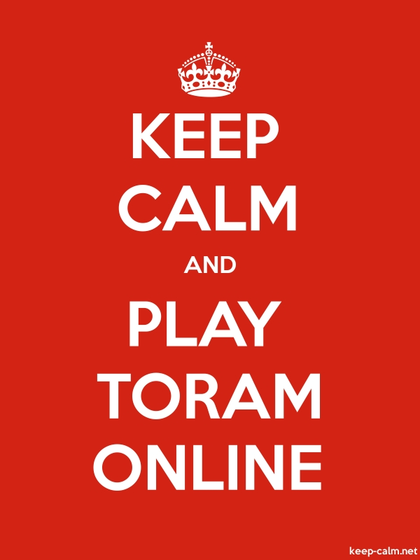 KEEP CALM AND PLAY TORAM ONLINE - white/red - Default (600x800)