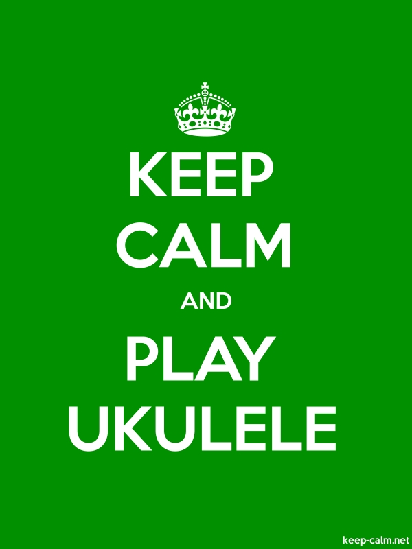 KEEP CALM AND PLAY UKULELE - white/green - Default (600x800)