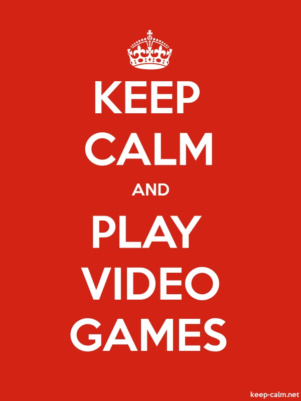 KEEP CALM AND PLAY VIDEO GAMES - white/red - Default (600x800)