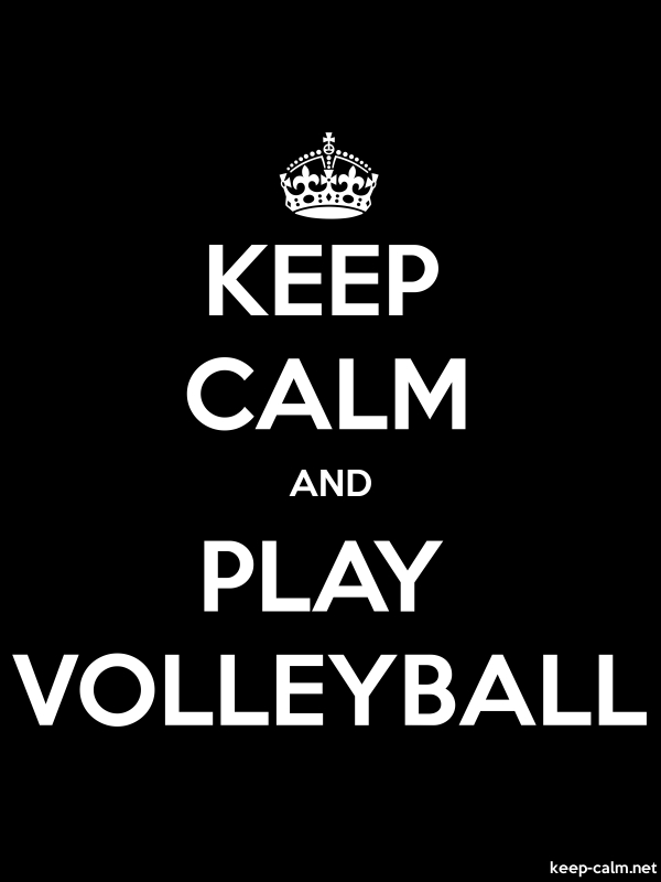 KEEP CALM AND PLAY VOLLEYBALL - white/black - Default (600x800)