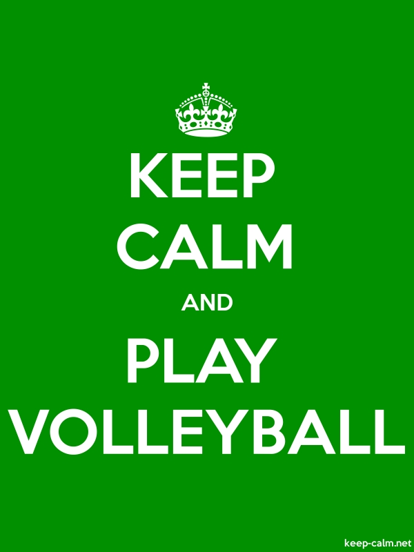 KEEP CALM AND PLAY VOLLEYBALL - white/green - Default (600x800)