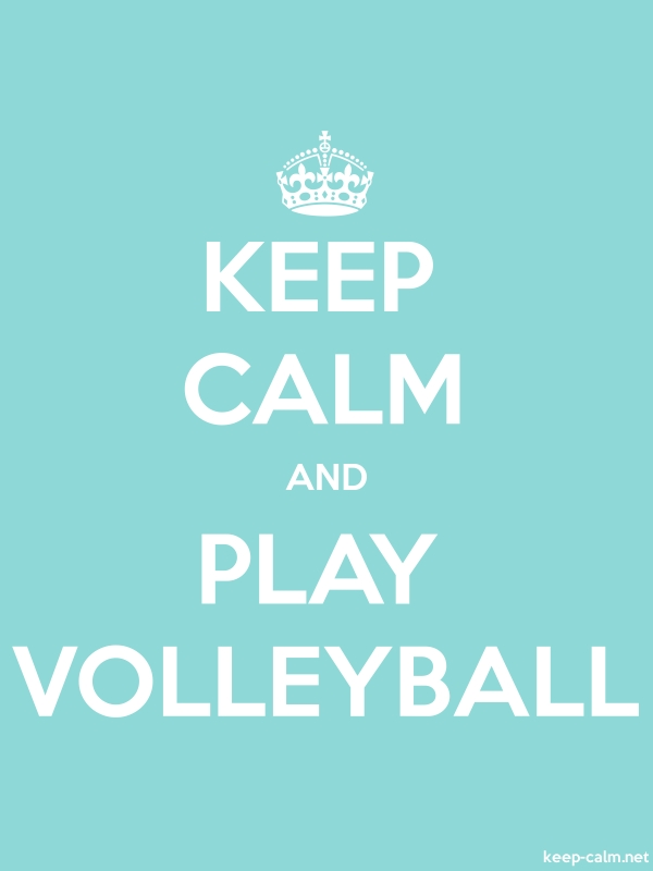 KEEP CALM AND PLAY VOLLEYBALL - white/lightblue - Default (600x800)