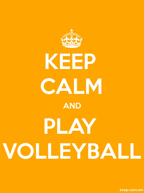 KEEP CALM AND PLAY VOLLEYBALL - white/orange - Default (600x800)