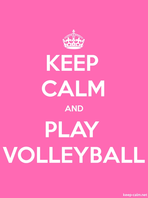 KEEP CALM AND PLAY VOLLEYBALL - white/pink - Default (600x800)