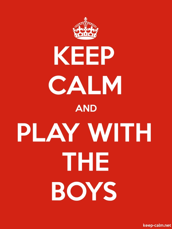 KEEP CALM AND PLAY WITH THE BOYS - white/red - Default (600x800)