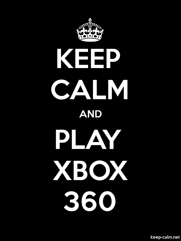 KEEP CALM AND PLAY XBOX 360 - white/black - Default (600x800)