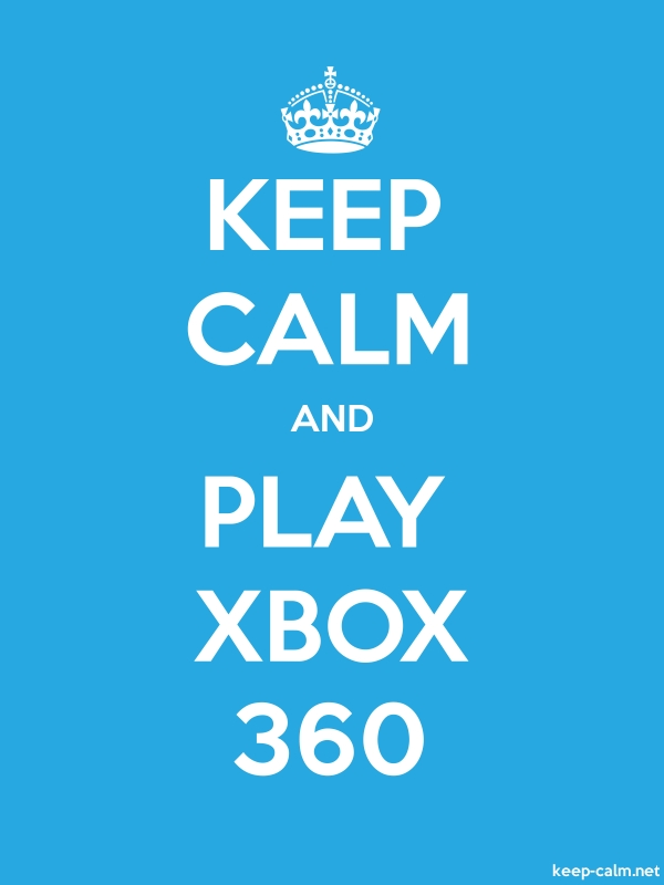 KEEP CALM AND PLAY XBOX 360 - white/blue - Default (600x800)