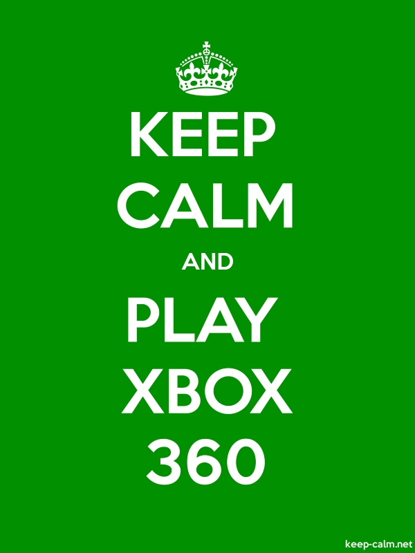 KEEP CALM AND PLAY XBOX 360 - white/green - Default (600x800)